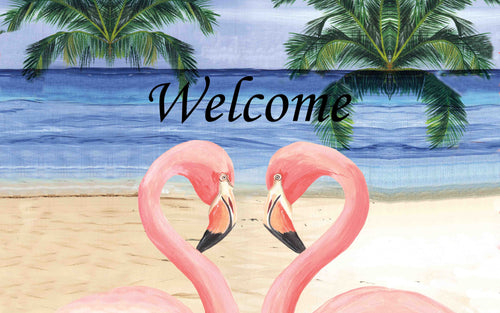 Flamingo Palms Indoor/Outdoor Mat