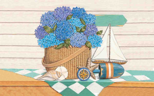 Hydrangea SeaShore Indoor/Outdoor Mat