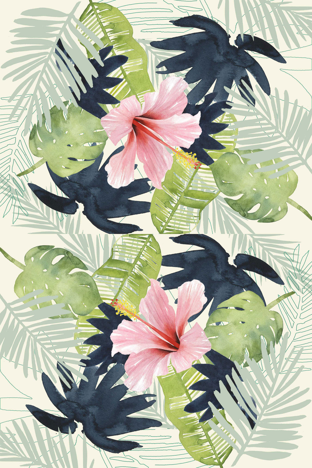 Tropical Punch Pink Kitchen Towel