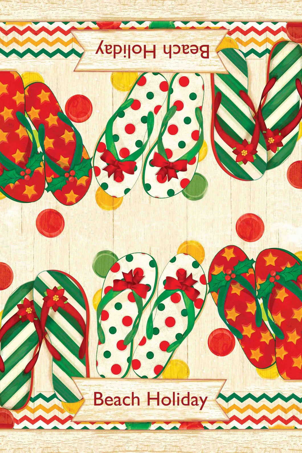 Holiday Flip Flops Kitchen Towel