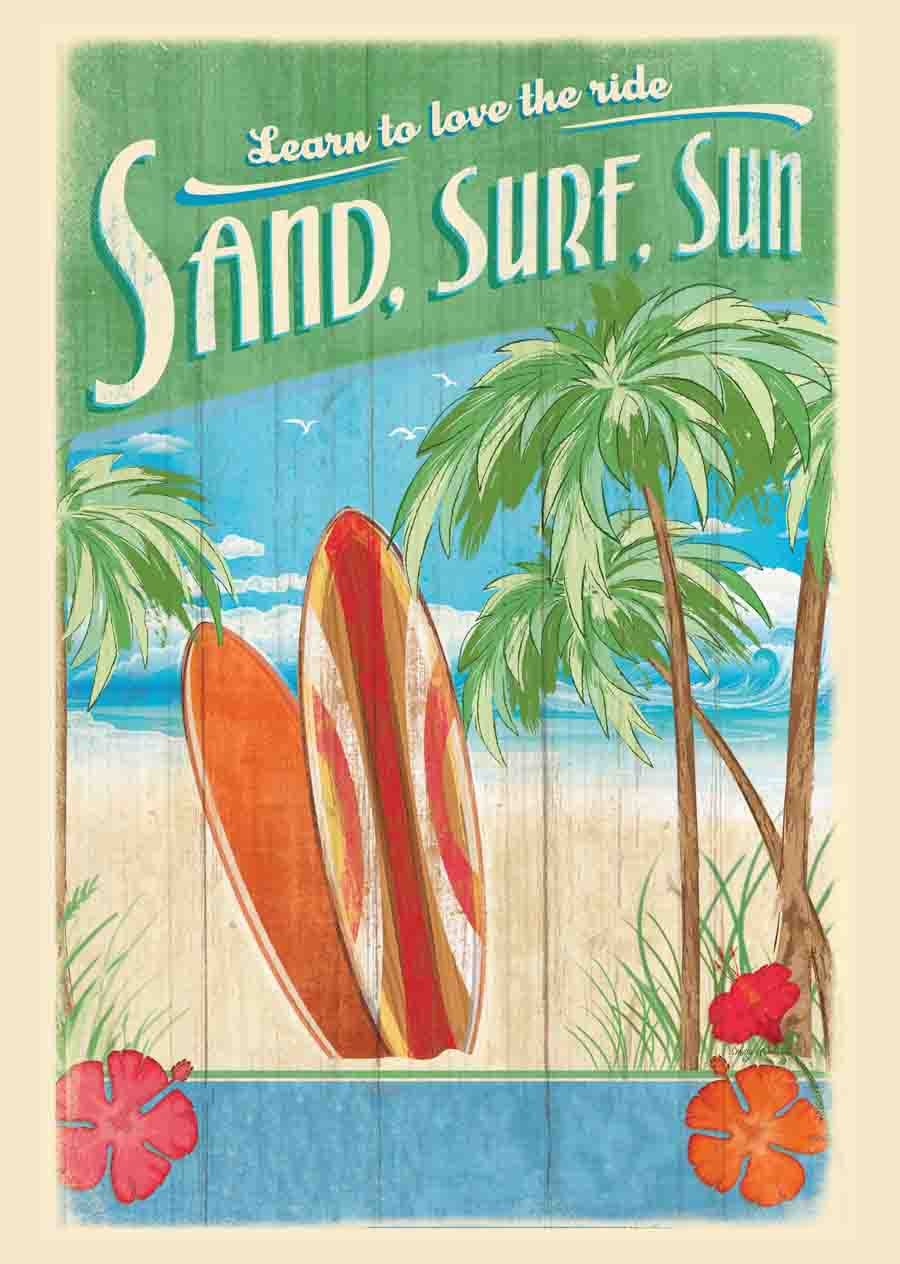Surf's Up Kitchen Towel
