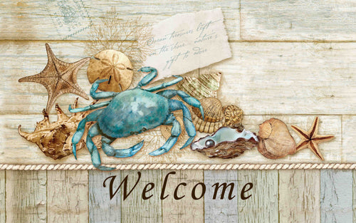 Blue Crab Shells Indoor/Outdoor Mat