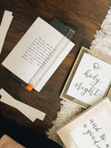 O Holy Night Hand Lettered Print