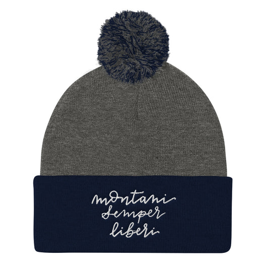 Mountaineers are Always Free Pom Beanie