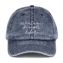 Mountaineers are Always Free Vintage Blue Hat