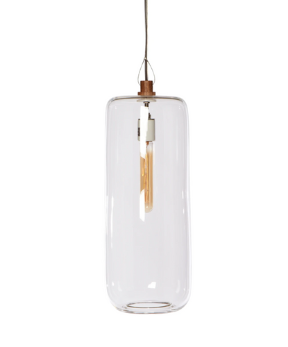 Clear Cylinder Pendant Light by Cisco Brothers