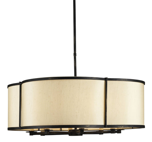 french beige shade, light pendant
