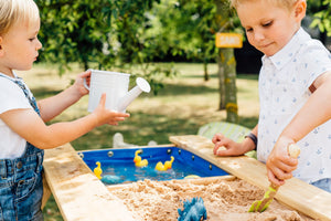 Plum Sand and Water Picnic Table with Table Top - Preorder Now! - Backyard Fun and Play!