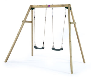 Plum Wooden Double Swing Set - Backyard Fun and Play!