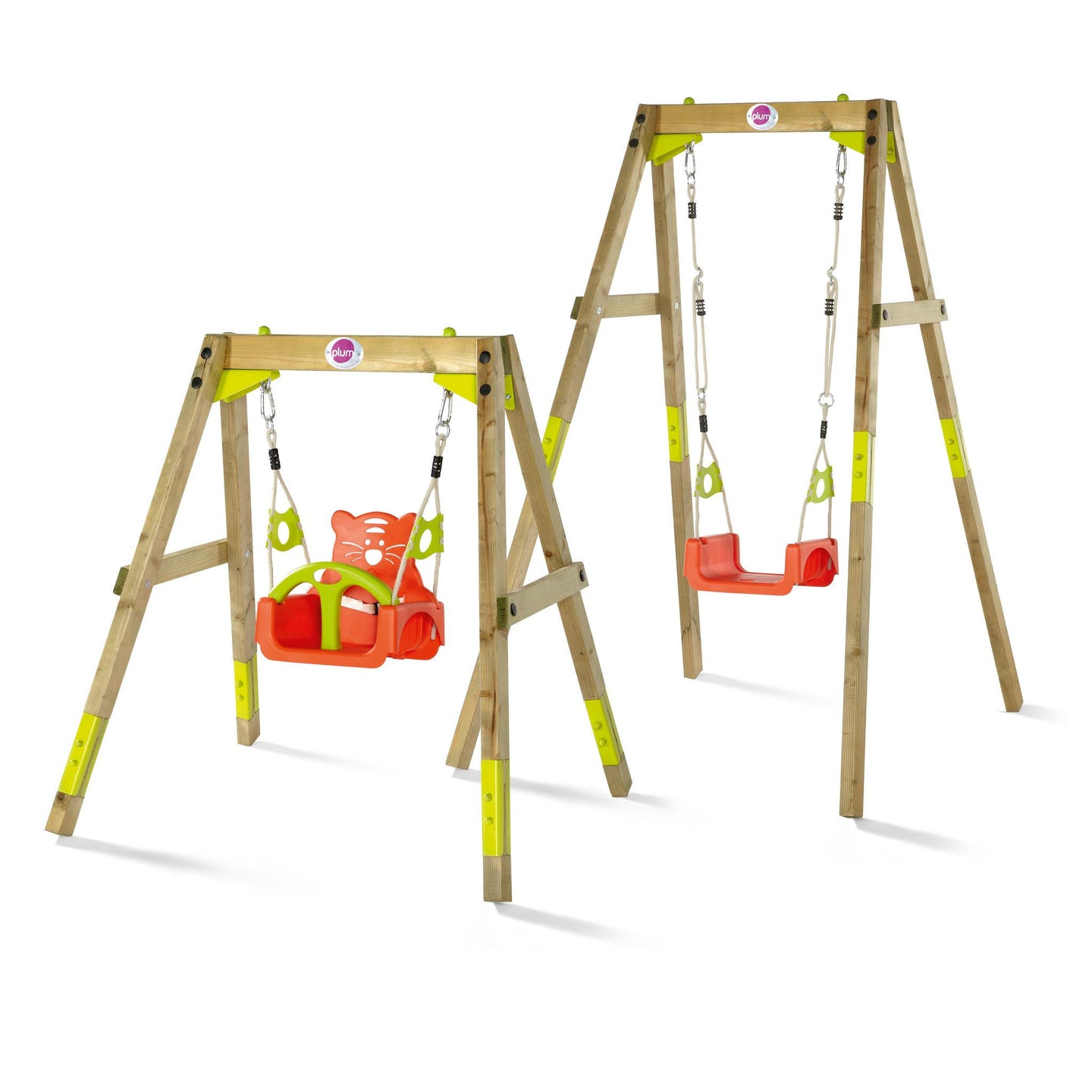 Plum Wooden Adjustable Growing Swing Set - Backyard Fun and Play!
