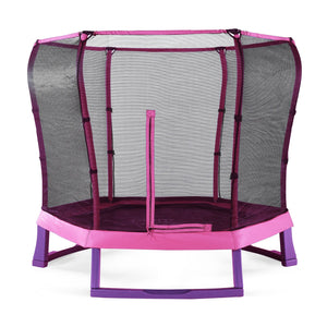Plum 7ft Junior Jumper Springsafe Pink & Purple Trampoline - Backyard Fun and Play!
