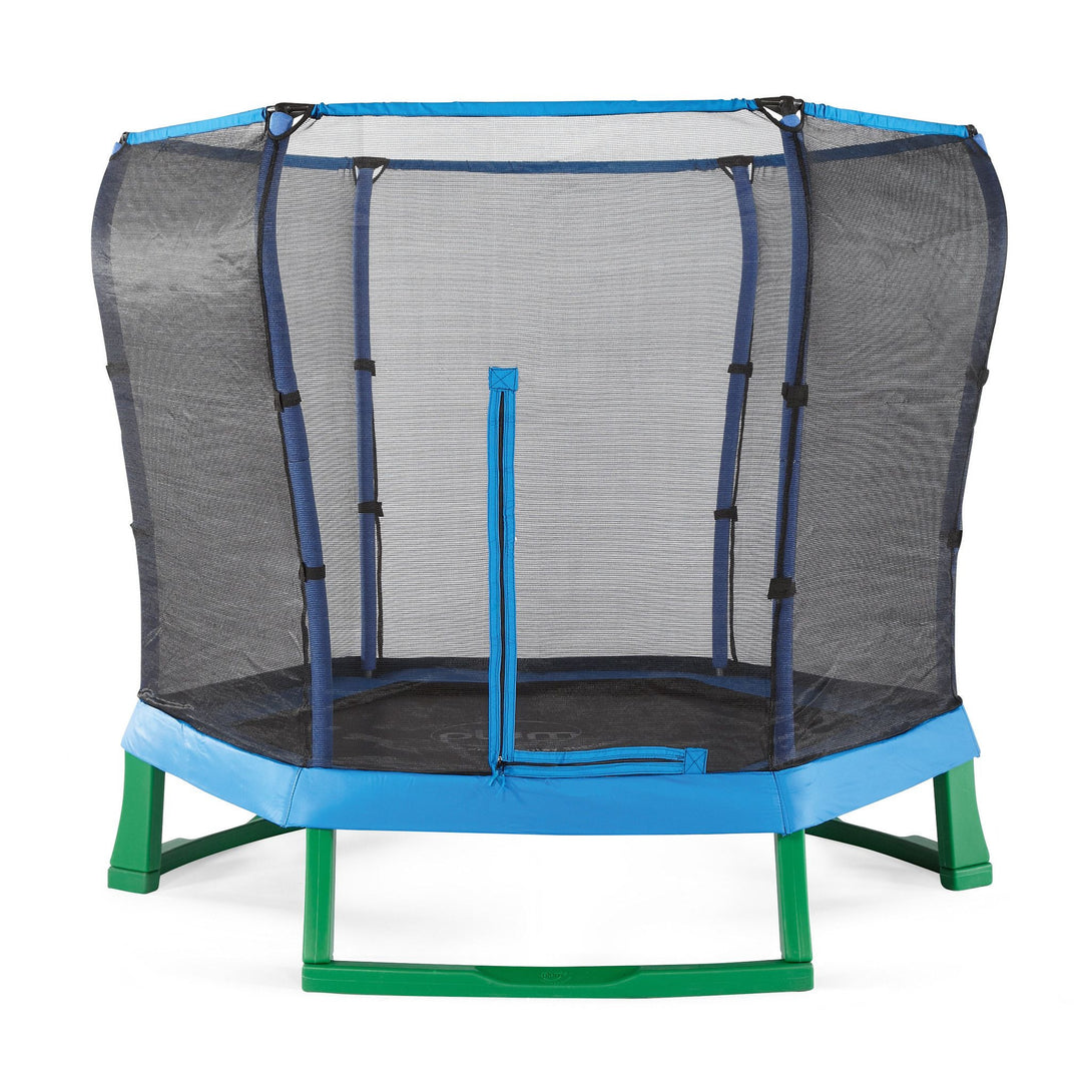 Plum 7ft Junior Jumper Springsafe Blue & Green Trampoline - Backyard Fun and Play!