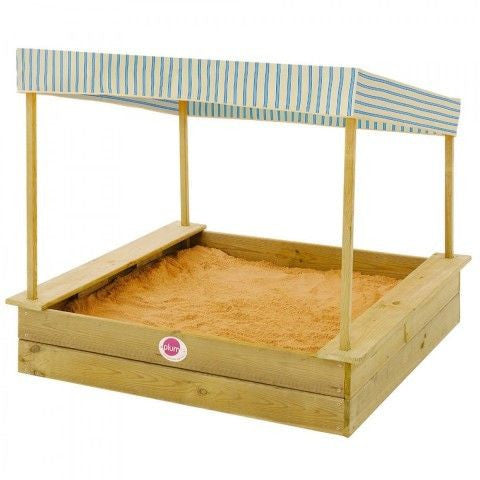Plum Palm Beach Wooden Sandpit with Canopy - Backyard Fun and Play!
