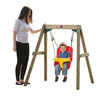 Plum Wooden Baby Swing Set - Backyard Fun and Play!