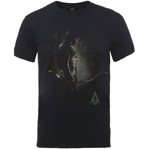 DC Green Arrow Focused T-shirt available at T-Baggin.co.uk. For this and other comic T-shirts visit T-Baggin.co.uk