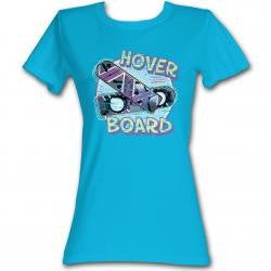 Back To The Future ladies Hover Board T-Shirt available from www.T-Baggin.co.uk