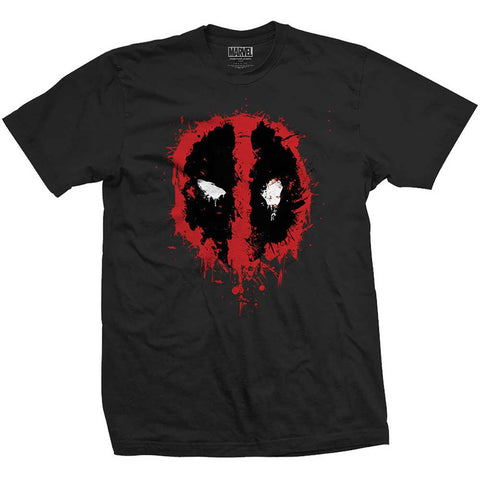 Marvel Deadpool splatter T-shirt from T-Baggin.co.uk