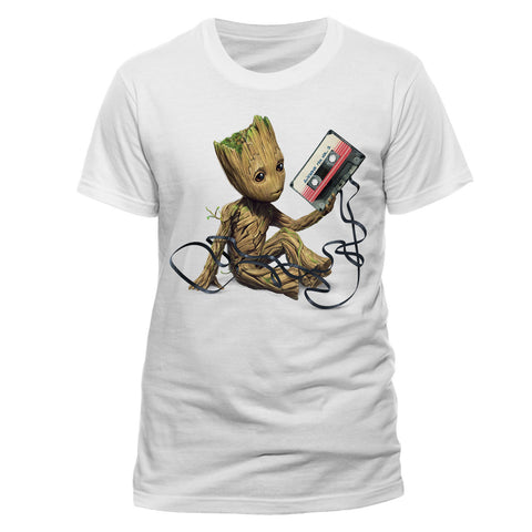 Guardians of the Galaxy 2 Men's T-Shirt Groot & Tape - T-Baggin