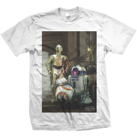 Star Wars Three Droids T-shirt from T-Baggin.co.uk. For this and other Star Wars T-shirts visit T-Baggin.co.uk