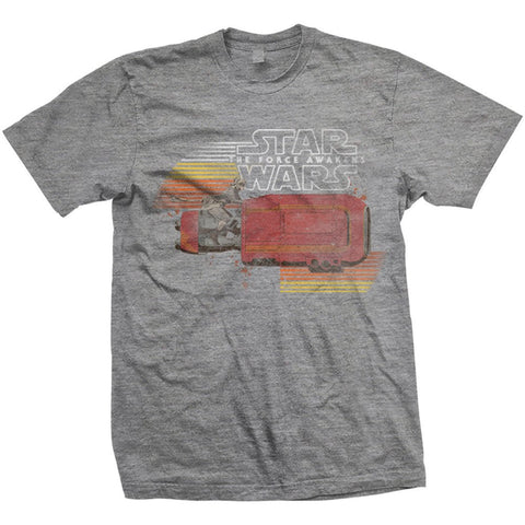 Star Wars Rey's Speeder Offically Licensed T-Shirt from T-Baggin.co.uk. For this and other Star Wars The Force Awakens T-shirts visit T-Baggin.co.uk