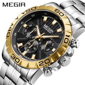 Megir Stainless Steel Wrist Luxury Watch