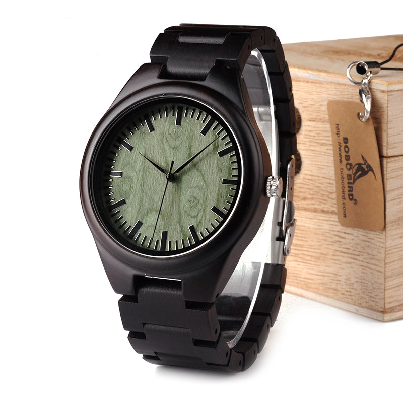 handmade wooden watch wood watches wrist grain woodgrain pages com zebra amazon
