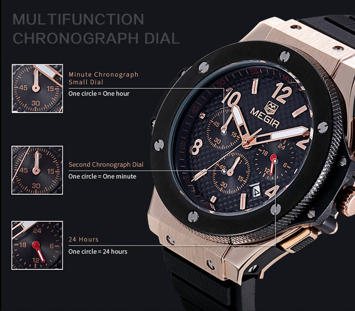Megir Hot Fashion Chronograph Army Quartz Watch