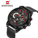 NAVIFORCE 30M Waterproof Sport Men Watch 24 Hour Quartz Watches