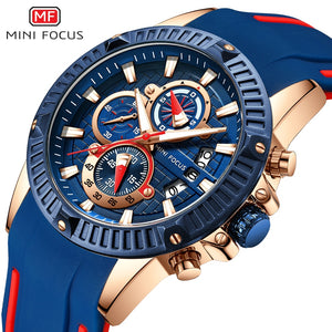 Mini Focus Silicone Chronograph Watch