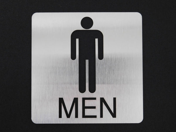 TCI Metal Stainless Steel Men's Restroom Sign