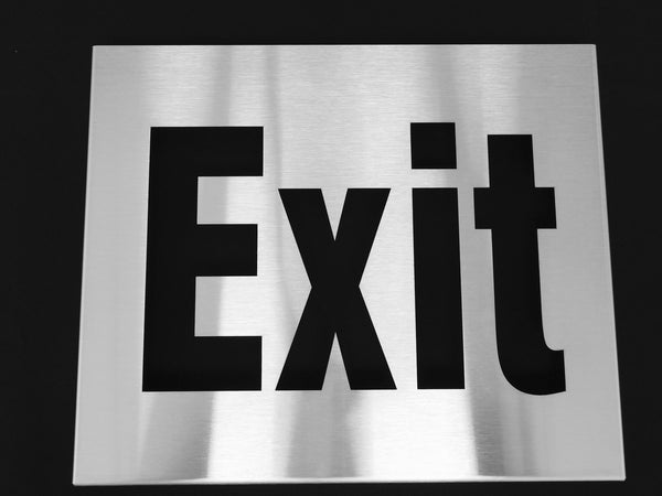 TCI Metal Stainless Steel Exit Sign Cover with Wrap