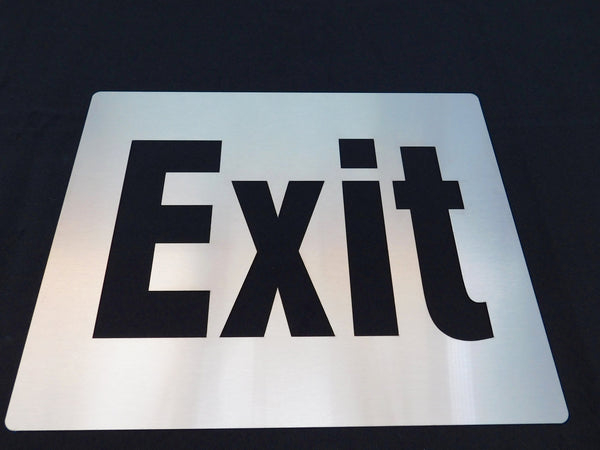 TCI Metal Stainless Steel Exit Sign Cover Plate