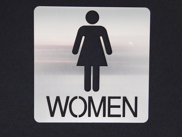 TCI Metal Stainless Steel Women's Restroom Sign
