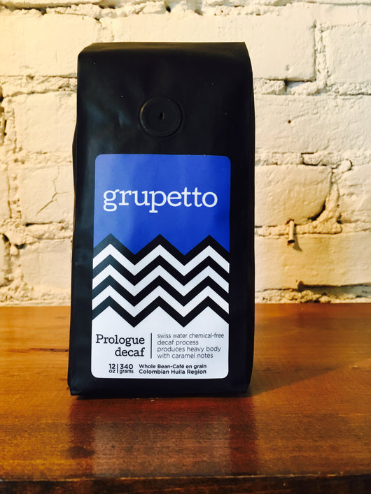 grupetto Prologue Swiss Decaf 12oz/340g Whole Bean Coffee
