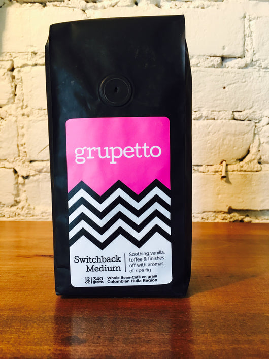 grupetto Switchback Medium 12oz/340g Whole Bean Coffee