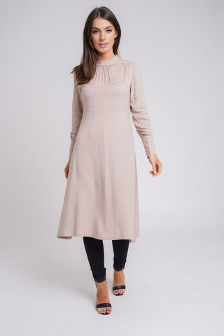 Mauve Pleated Midi
