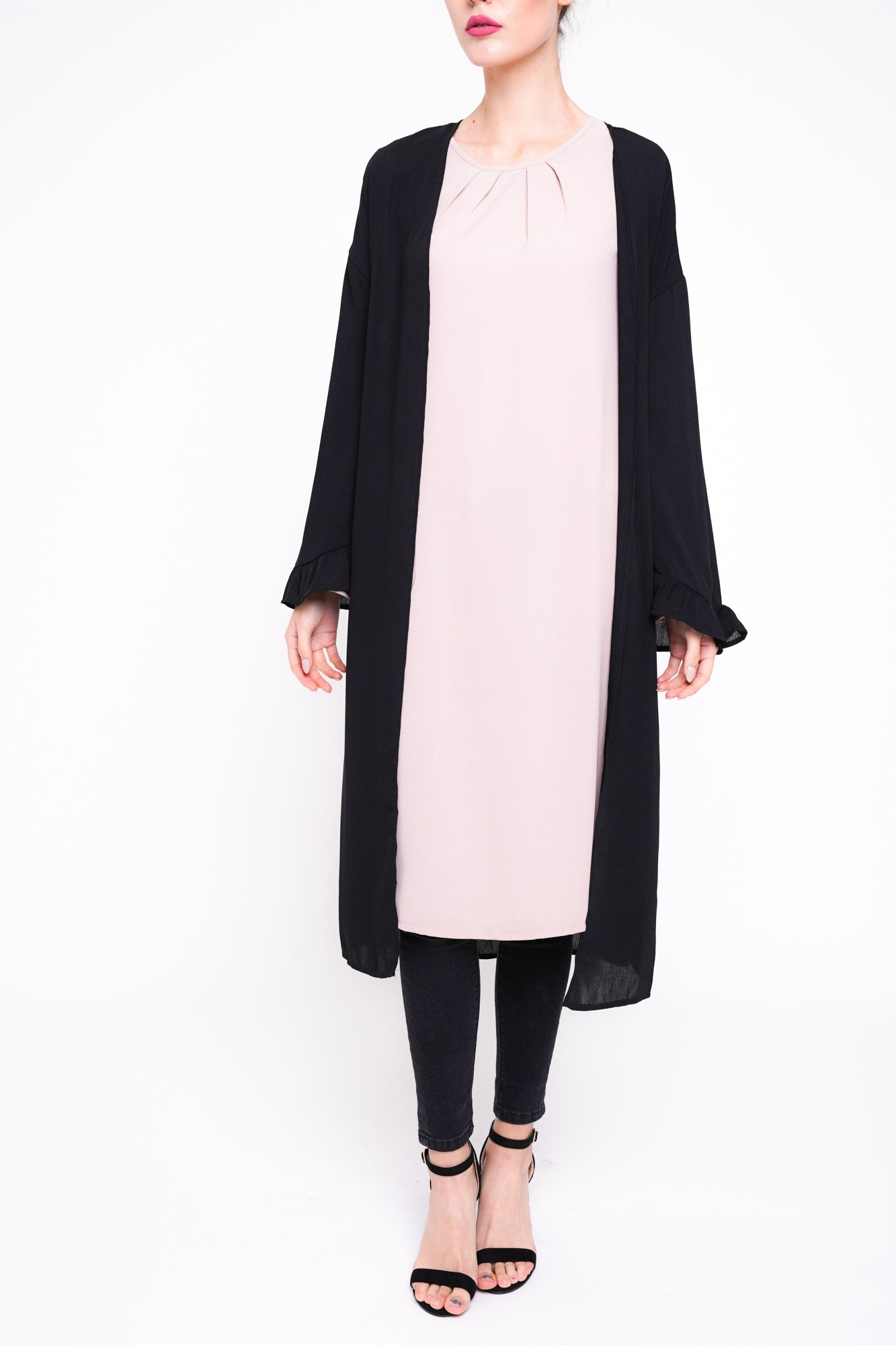 Bell sleeve Cover Up Black