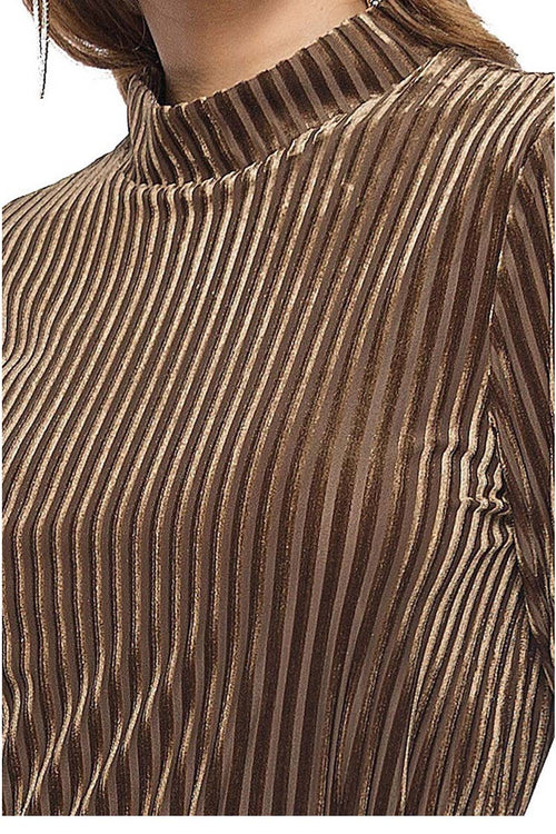 Velvet Stripe Midi Coffee