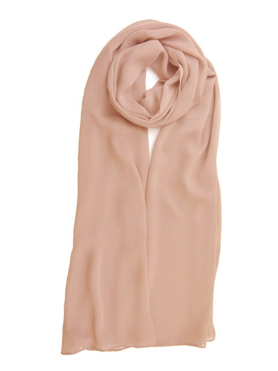 Light Peach Crinkle Chiffon