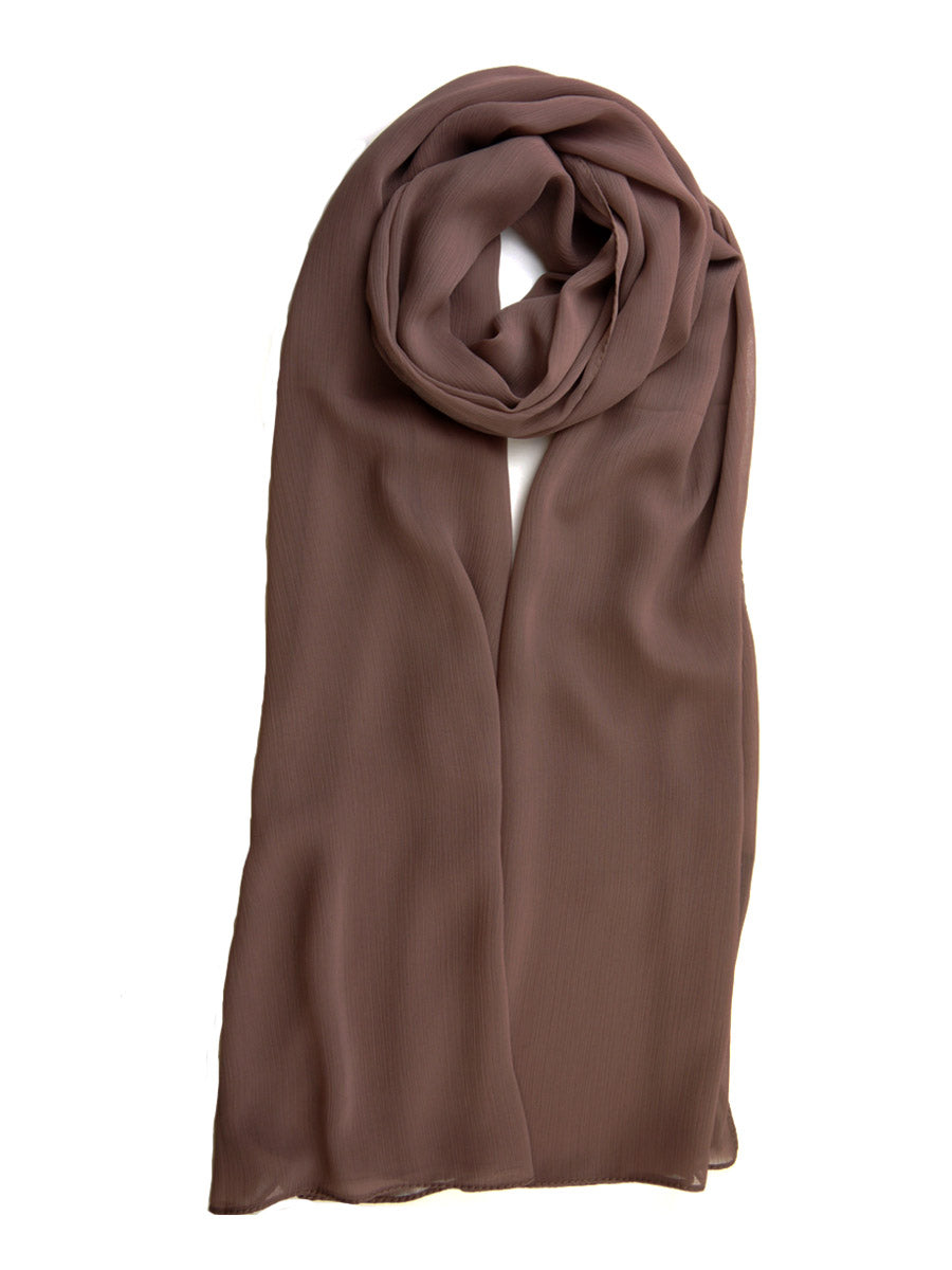 Pony Brown Crinkle Chiffon