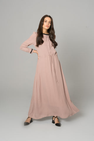 FLARE MAXI COAT BERRY