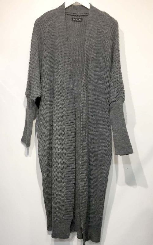 Batwing Lounge Knit Cardigan Grey