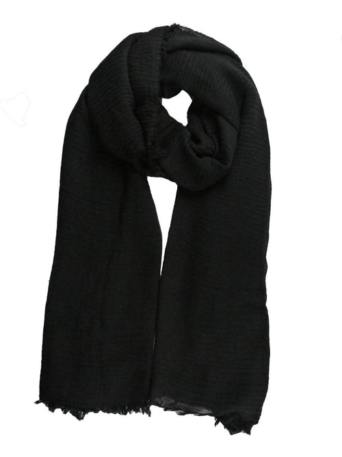 Black Crinkle cotton  Hijab