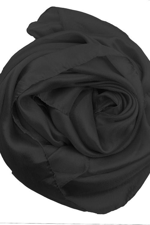 Black Silk Hijab