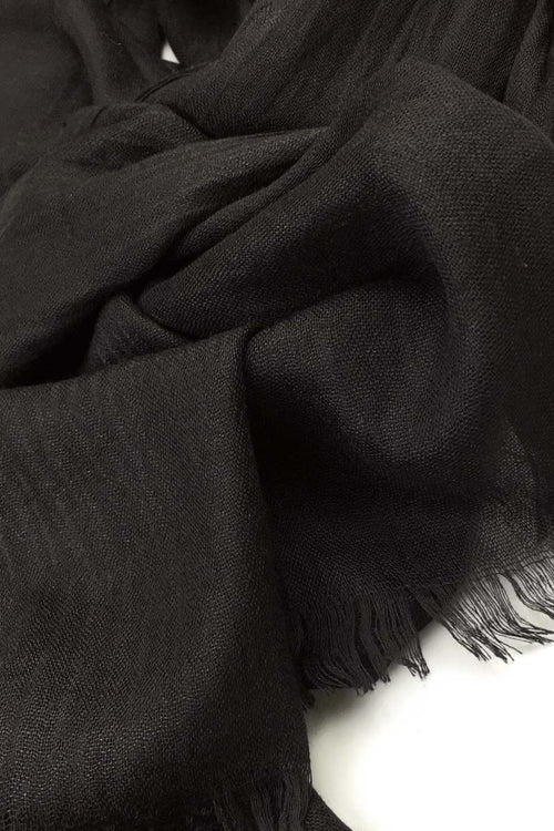 Black Luxury Cotton Hijab