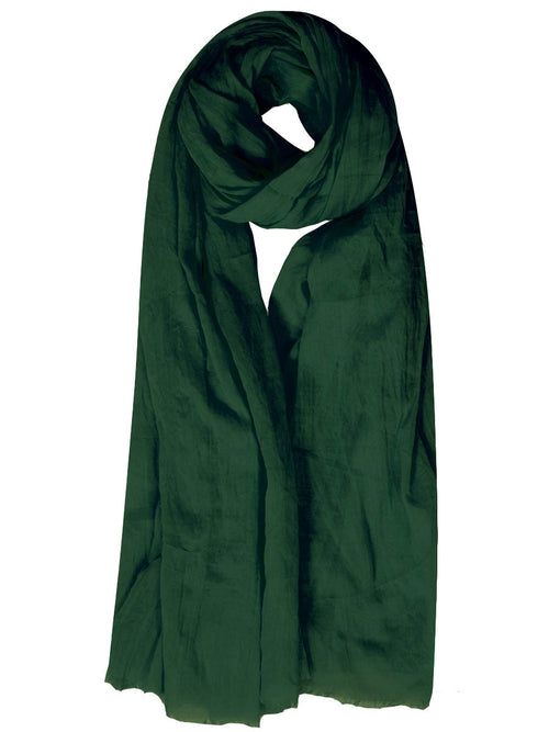 Emerald Green Cotton Mix Hijab