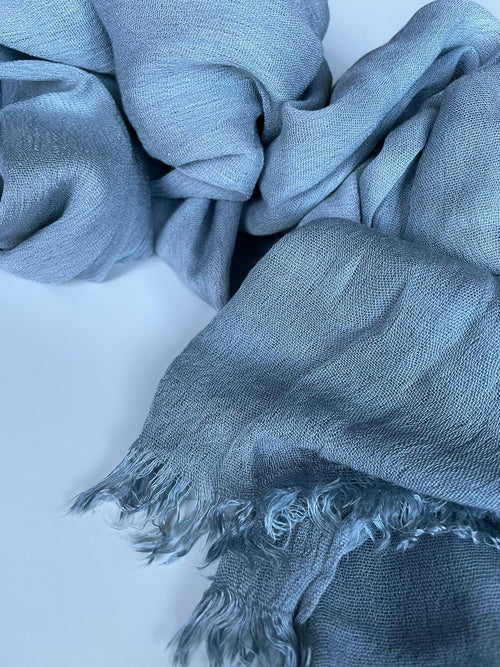 Iced Blue-grey Deluxe Crinkle Hijab