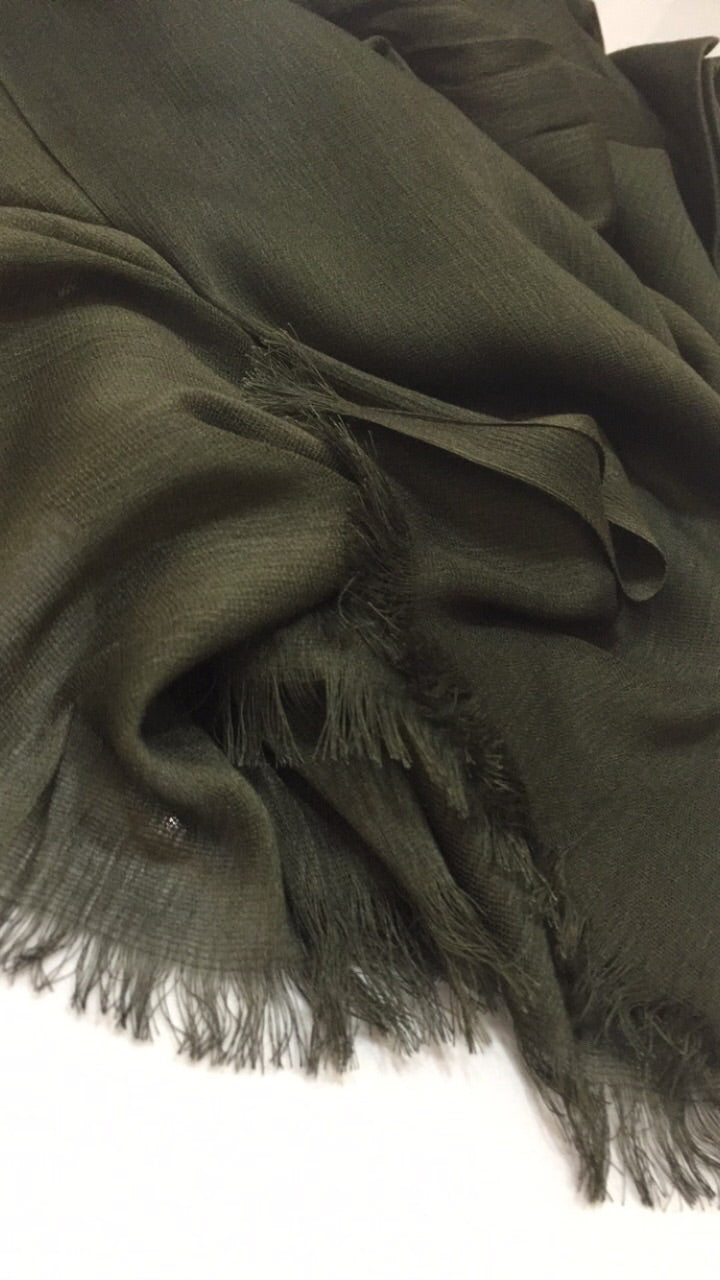 NEW Deep Khaki Luxury Crinkle Hijab