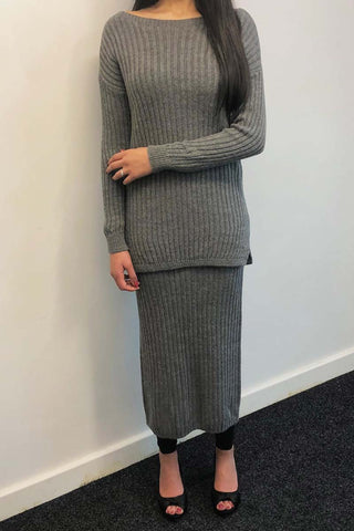 Oversize Knit Jumper Grey
