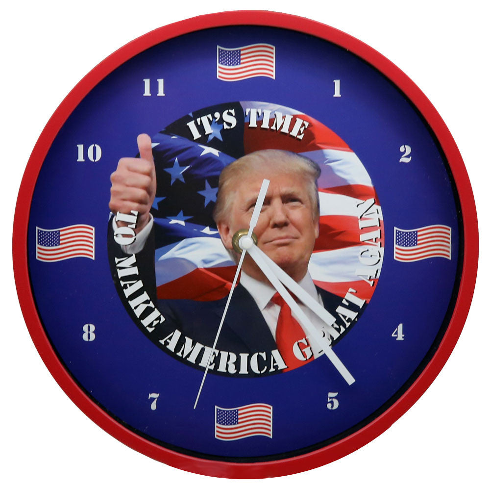 President Trump Talking Wall Clock